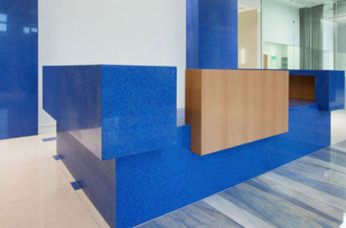 image of glass reception desk